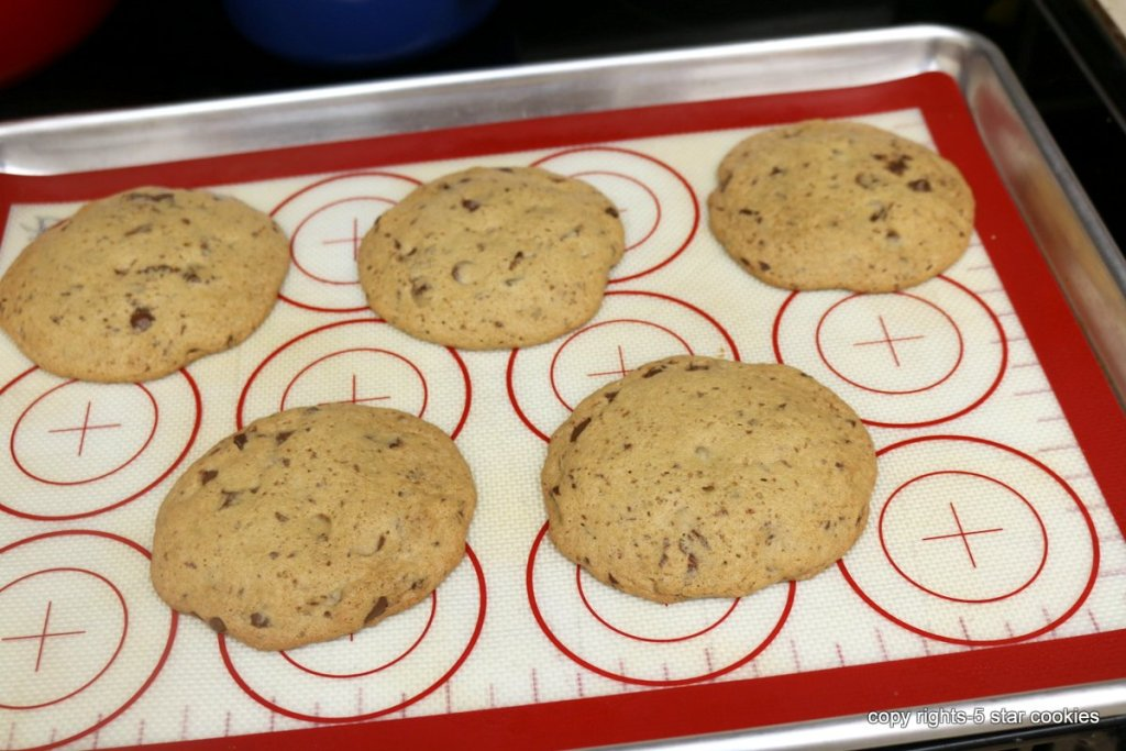 bake chocolate chip cookies at 375 F