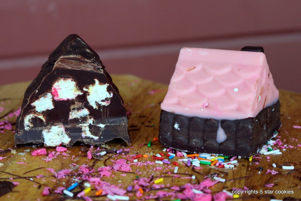 tiny chocolate house eaten by your