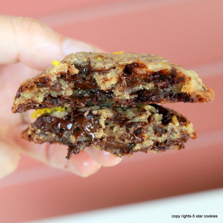 chocolate chip cookies orange intense from 5starcookies