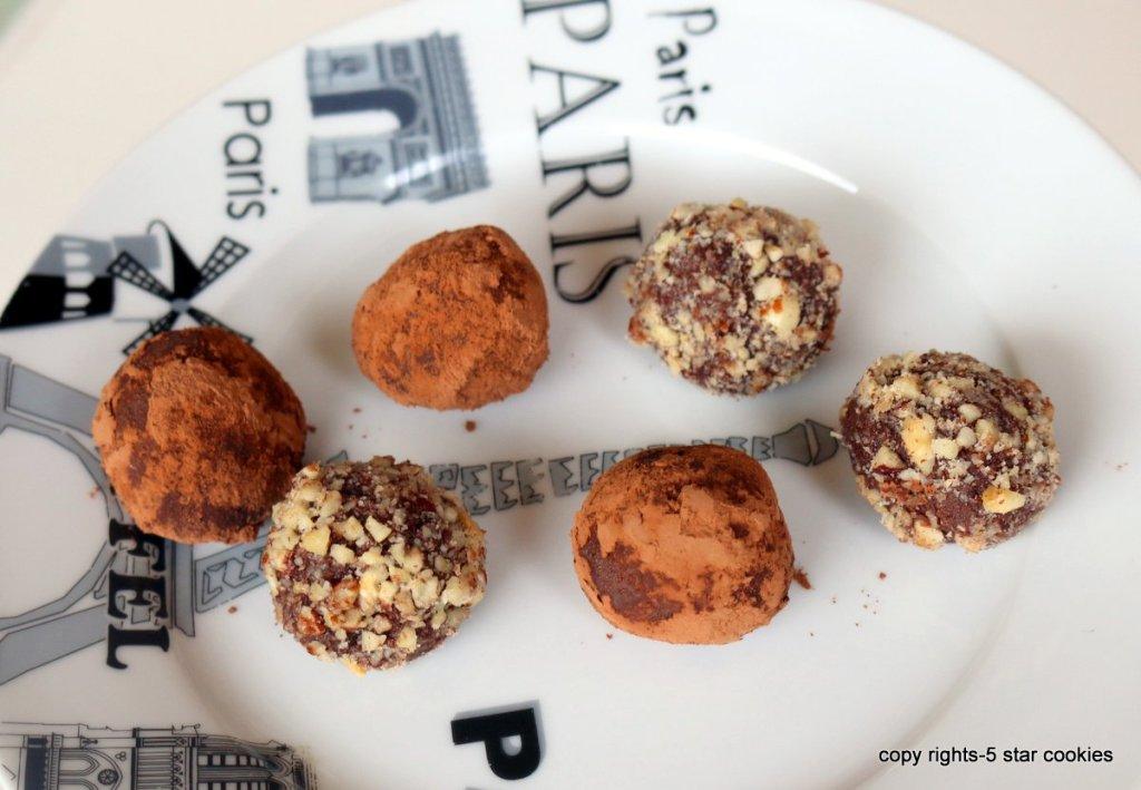 boozy vodka truffles with chocolate