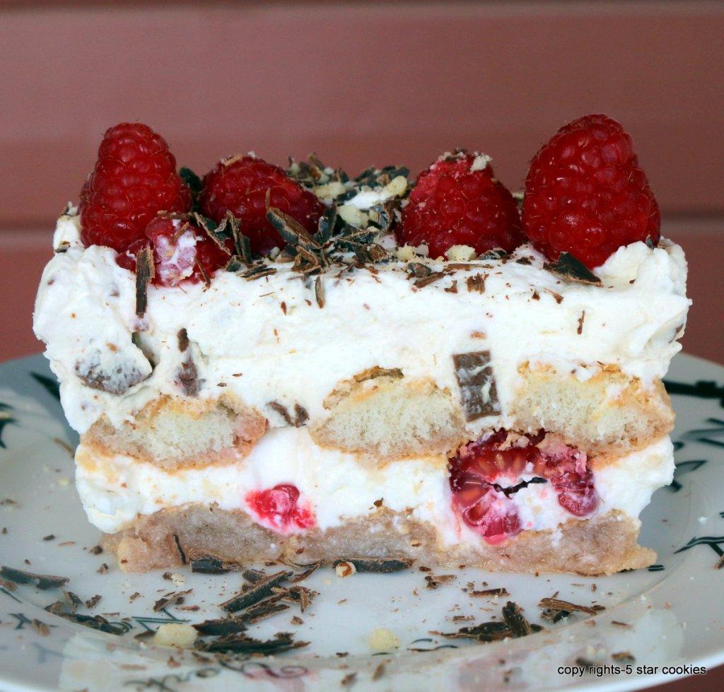 raspberry refreshing dessert