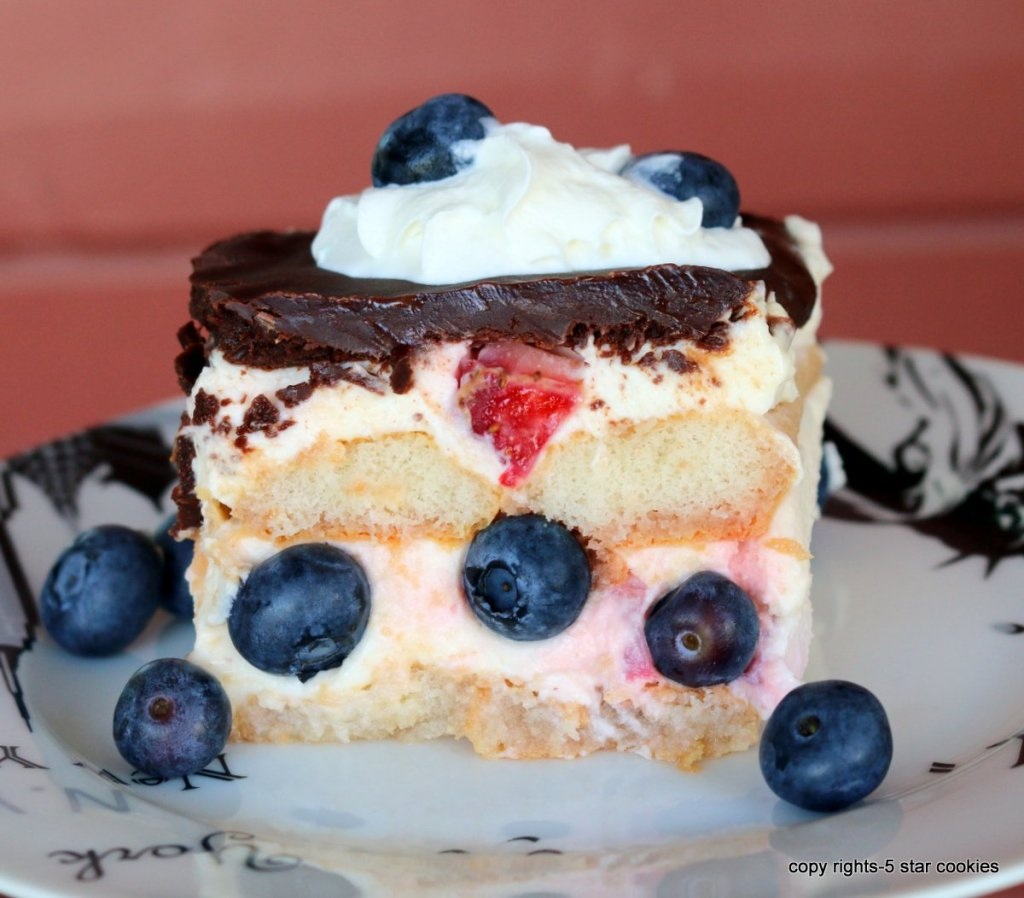 no bake summer dessert with chocolate