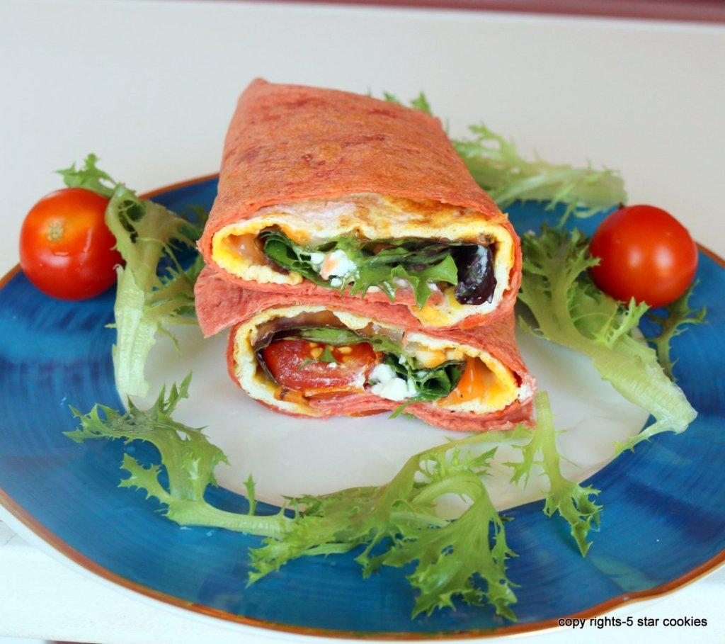Tomato Cheese Tortilla Sandwich
