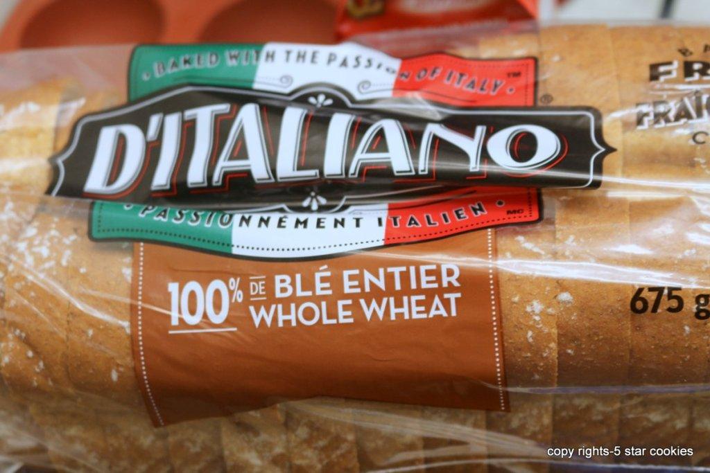 DItaliano bread chicken sandwich