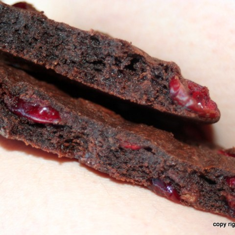 Chocolate Cookies with Sour Cherries and Martha Stewart