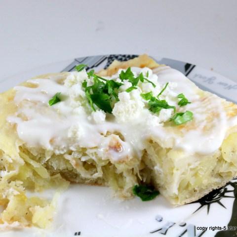 Potato Feta Onion Pie
