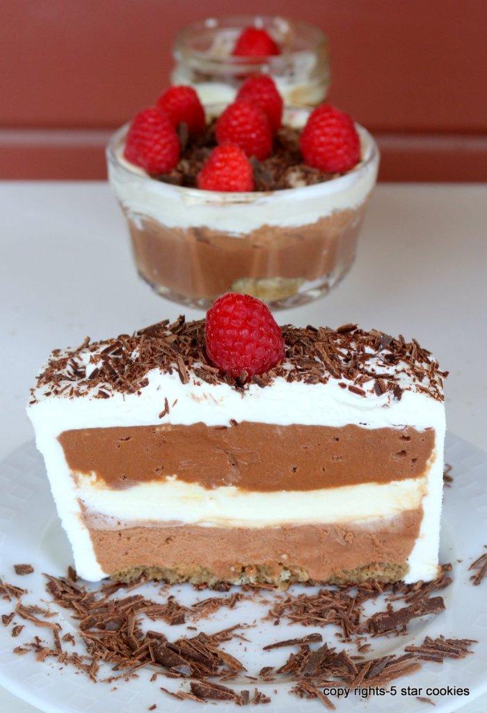 chocolate cake and trifles