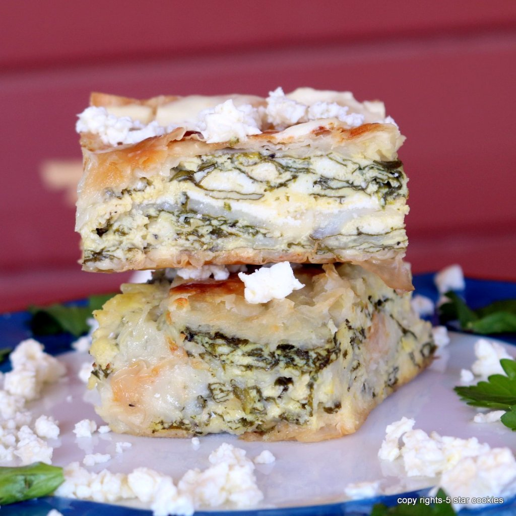 Spinach Cheese easy pie