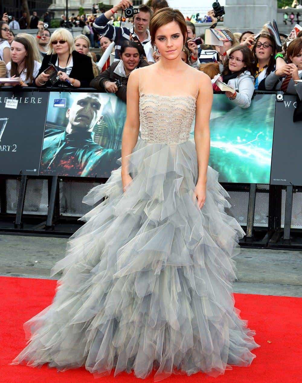 Emma Watson In Oscar de la Renta