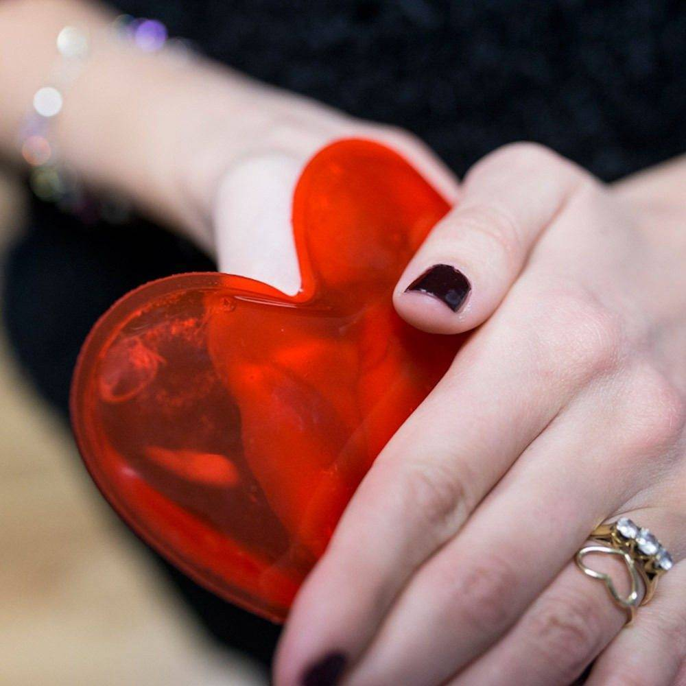 Cute and kitsch heart shaped warmers will keep hands hot