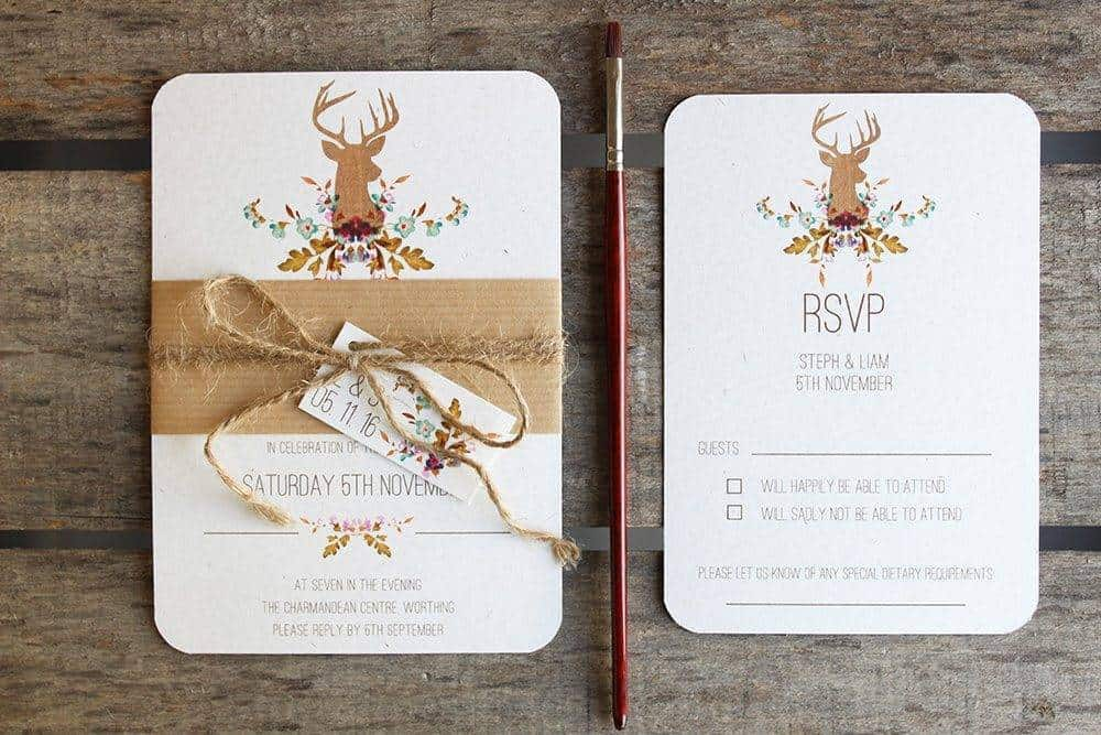 Ivy Ellens Fauna Belly Band and RSVP Card