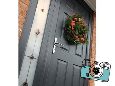 A door wreath
