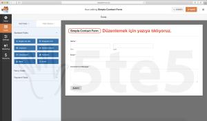 wp forms iletişim formu başlık düzenlemek için tıkla