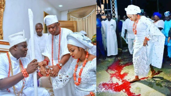 Ooni Of Ife's Queen Naomi Oluwaseyi Did Not Step On Blood!!! It's Something Entirely Different [Read Inside]