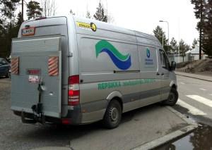 Kuva 3 - Vaikein juttu CITO:n järjestämisessä on roskien kuljetuksen järjestäminen. PUGC:n järjestämässä Tampereen CITO:ssa vuonna 2013 Tampereen kaupunki järjesti roskien kuljetuksen Pirkanmaan jätehuollon kautta.