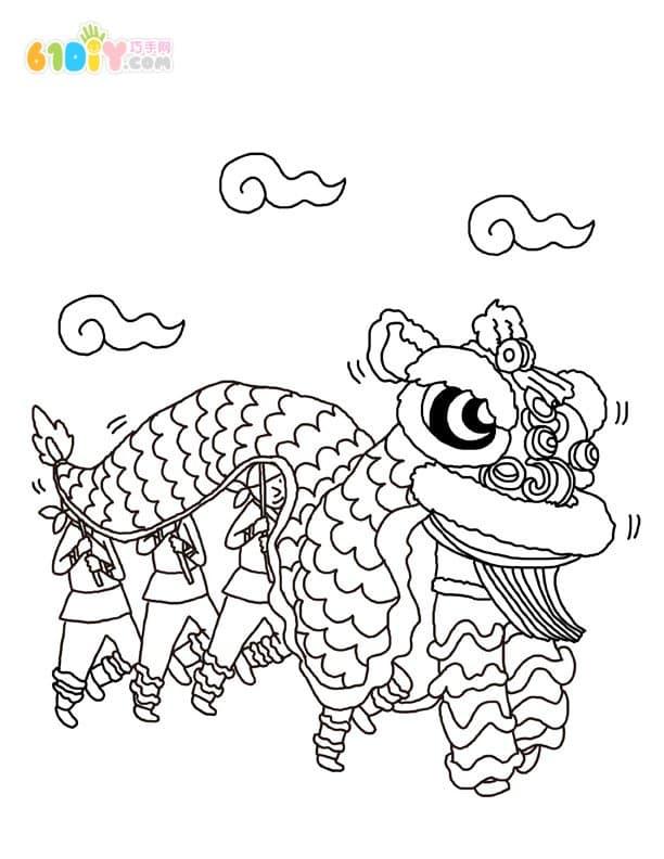 春节习俗卡通填色图_快乐涂鸦_巧巧手幼儿手工网