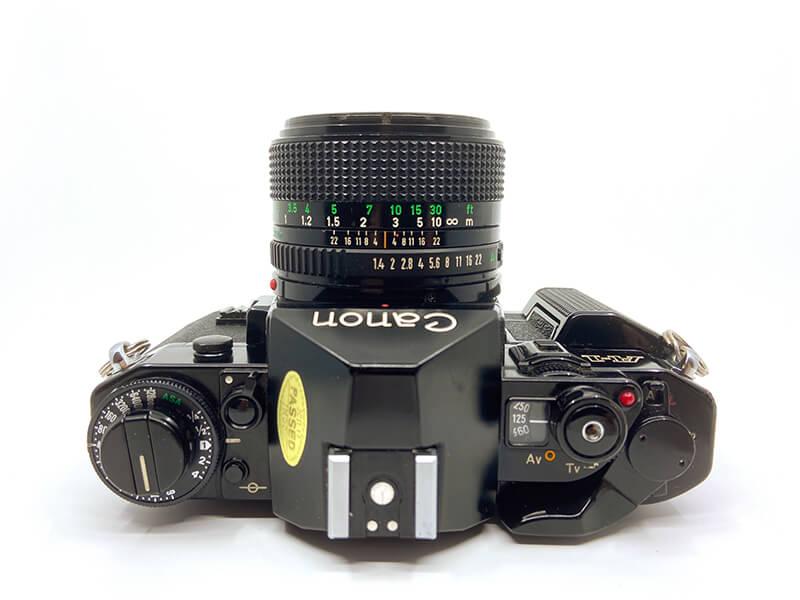 Canon A-1 von oben