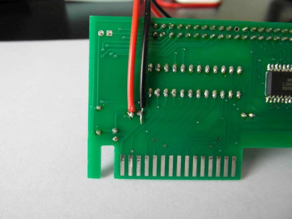 medium resolution of i soldered on a power cable to the back of the ide card so that the cf card can be powered directly eliminating the need for a separate supply