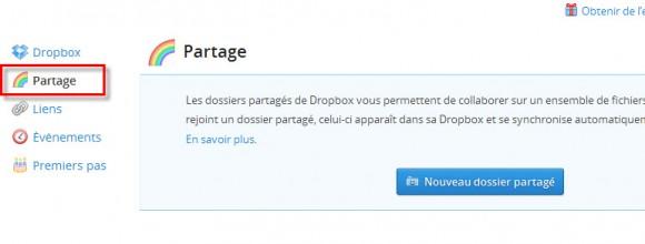Partage de dossier DropBox