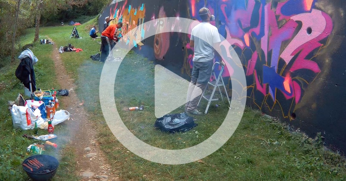 Video graffiti foix ariege