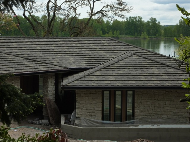 Stone-coated Metal Roofs traditional exterior