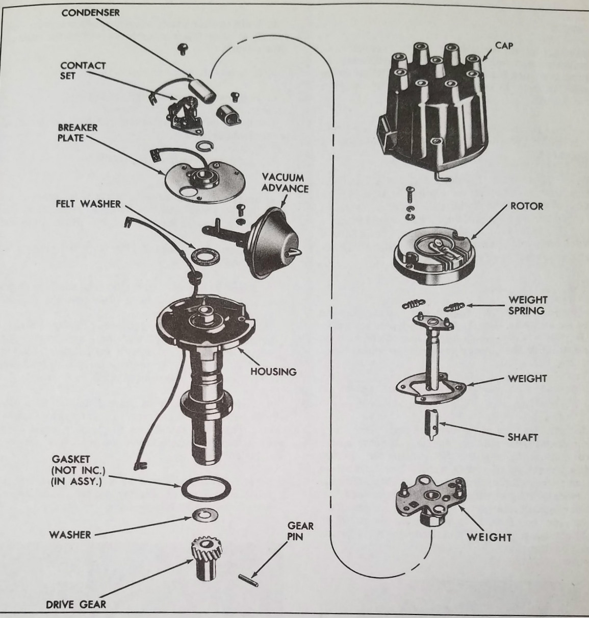 hight resolution of pontiac gto distributor diagram