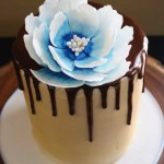 drip cake and sugar flower