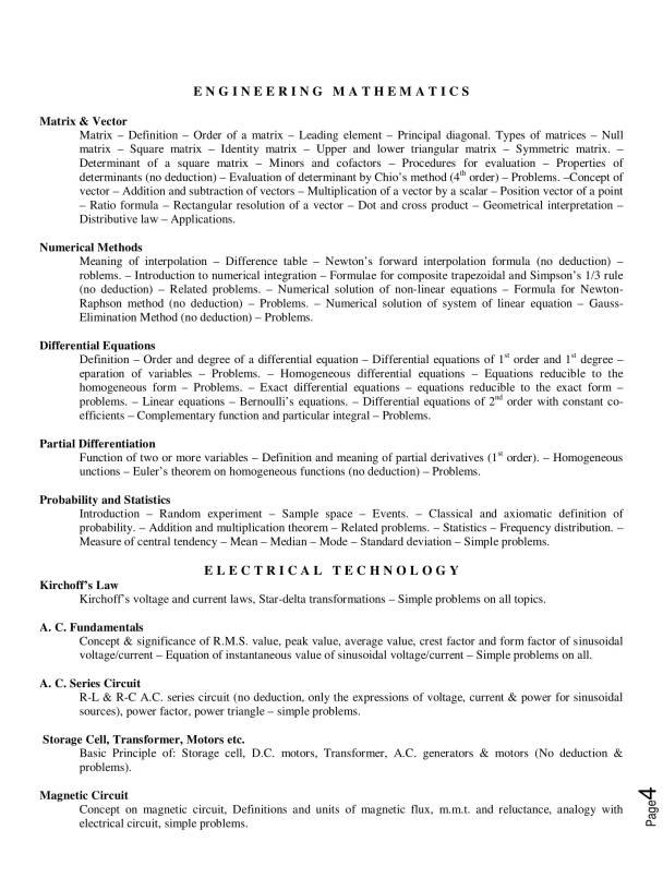 TIT lateral Entry syllabus in PDF , TITLEE 2018 syllabus , lateral