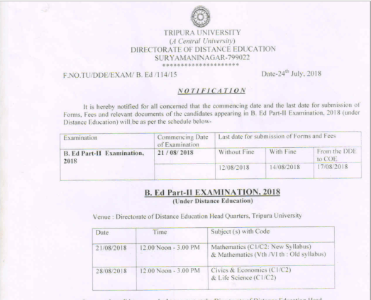 timetable-bed-examination