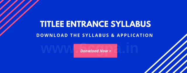 TITLEE ENTRANCE SYLLABUS