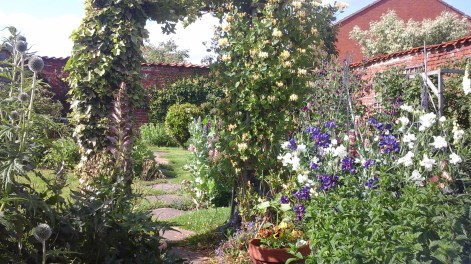 Relax in our pretty walled garden