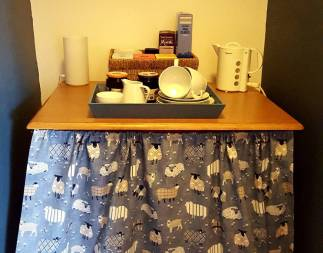 Help yourself to drinks and buffet breakfast