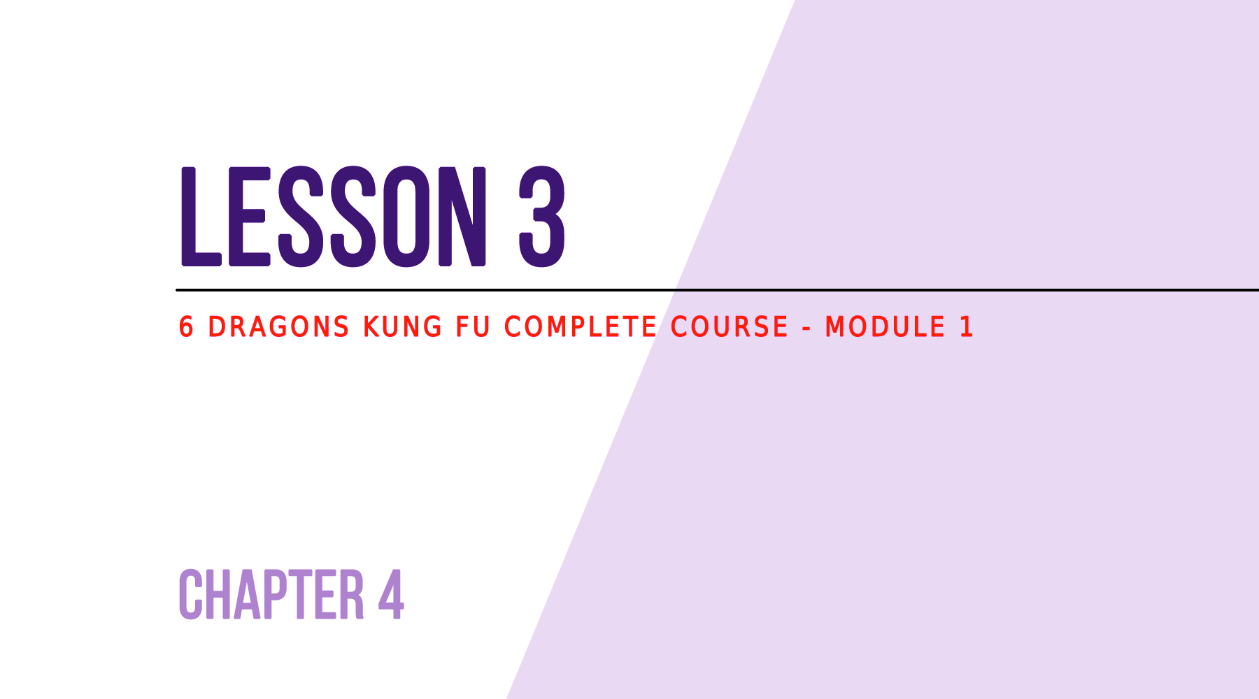 Lesson 3 - The different breathing types - 6DRAGONSKUNGFU.COM