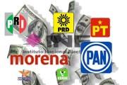 Partidos políticos recibirán un total de 4 mil 988.8 mdp del INE en 2020