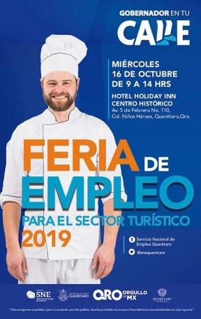 20 empresas del sector ofertan 311 vacantes en la Feria de Empleo Turística 2019 el 16 de octubre