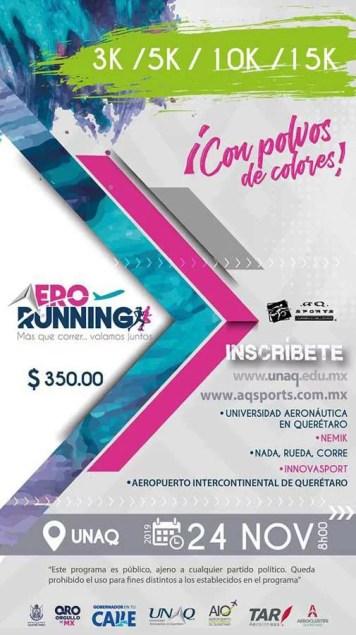 Participa en la carrera atlética Aerorunning de Querétaro, último día de inscripción