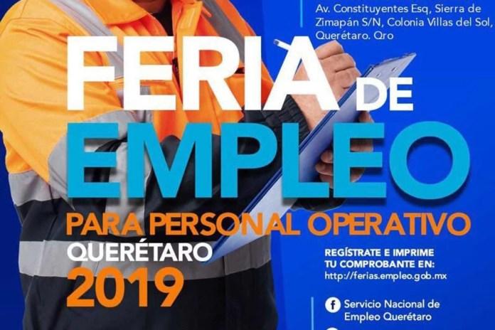 Última Feria del Empleo de este año en Querétaro este 6 de noviembre