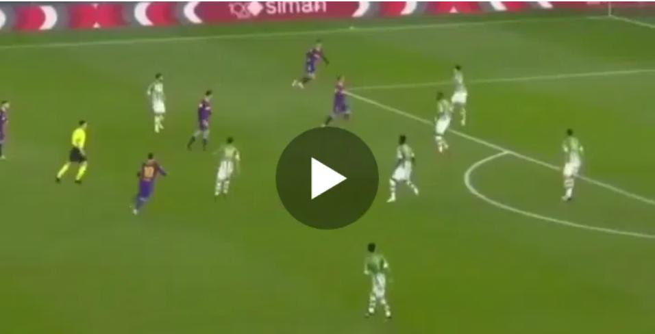 So talented: Watch Lionel Messi great goal, assist in Barca 3-2 win over Betis