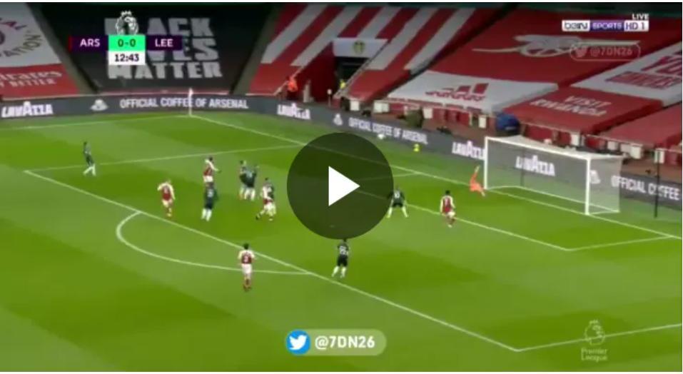Watch Aubameyang great goal Against Leeds