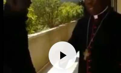 Watch Video As IPOB Members Approach Cardinal Arinze In Rome, Set to Meet Pope