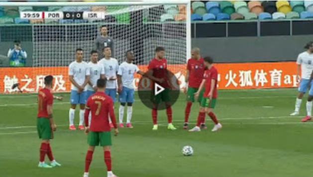 Watch Cristiano Ronaldo Awful Free-kick