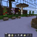 Garden in Minecraft using Modern HD Resource Pack