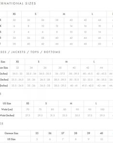 Escada sport women   size conversion chart also symbia tank top at pm rh