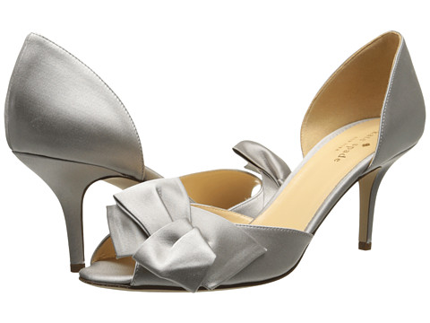 Kate Spade New York Sala (New Grey Satin) High Heels