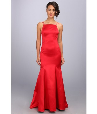 ABS Allen Schwartz - Double Strap Open Back Mermaid Dress (Red) Women's Dress