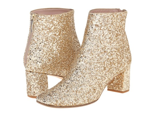 Kate Spade New York - Tal (Gold Glitter) Women's Zip Boots