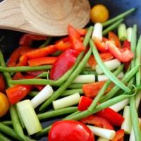 Kalveculotte med svampesauce og grøntsagssauté