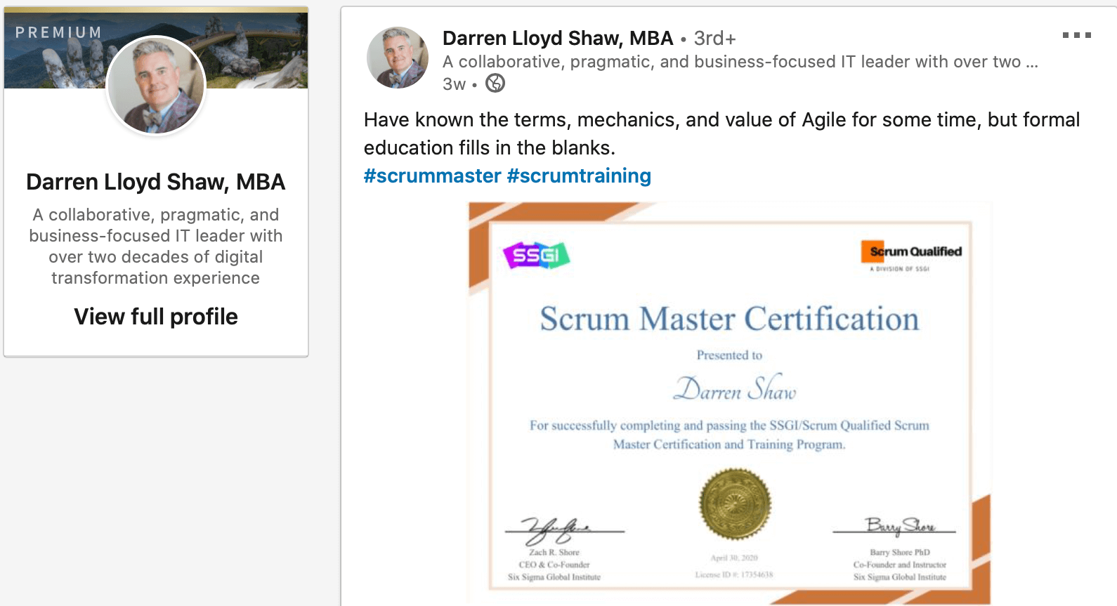 ssgi review scrum master certification