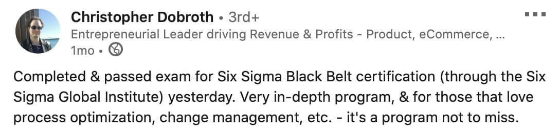 black belt six sigma review ssgi
