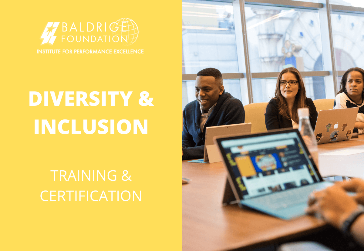 DIVERSITY AND INCLUSION YELLOW BELT Baldrige